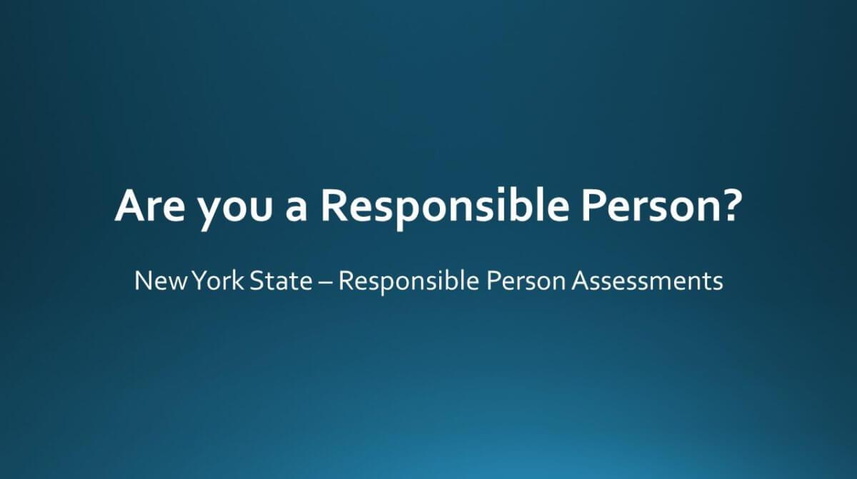 NY SALES TAX RESPONSIBLE PERSON