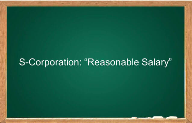s-corporation reasonable salary