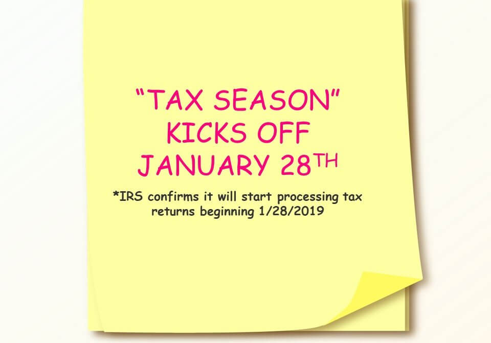 IRS Tax Season Post-It Notice