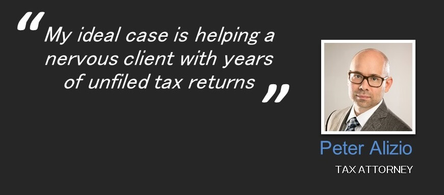 quote : my ideal case is helping a nervous client with years of unfiled tax returns