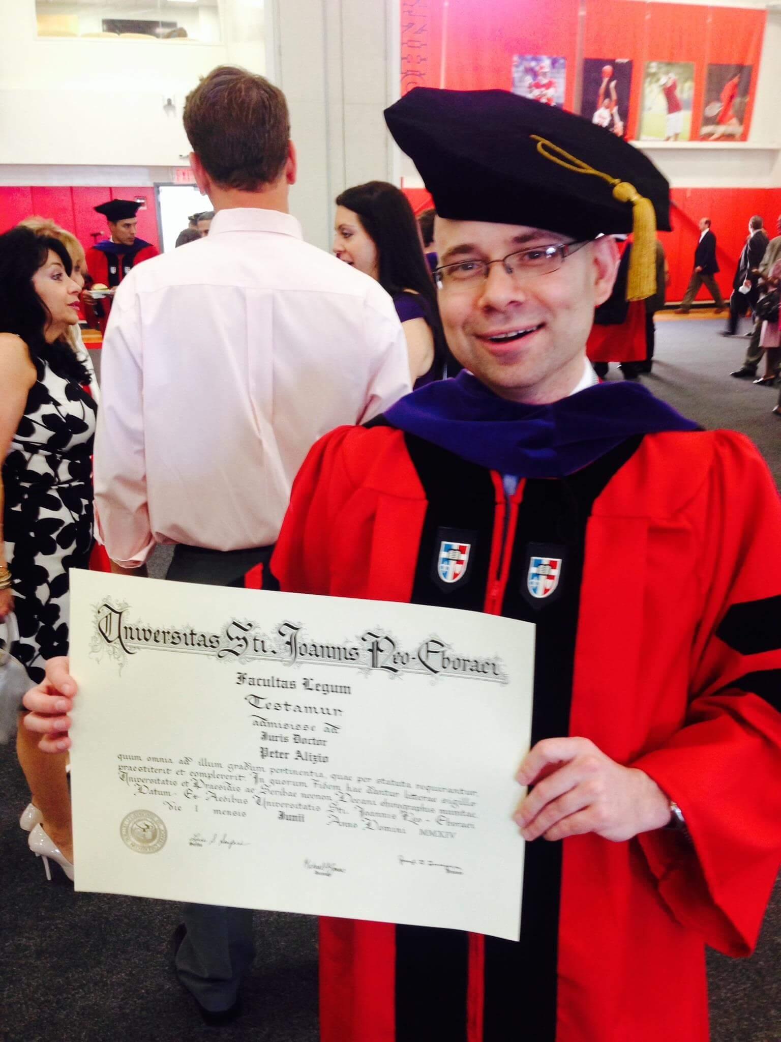 Peter E. Alizio St. John's University School of Law - Class of 2014