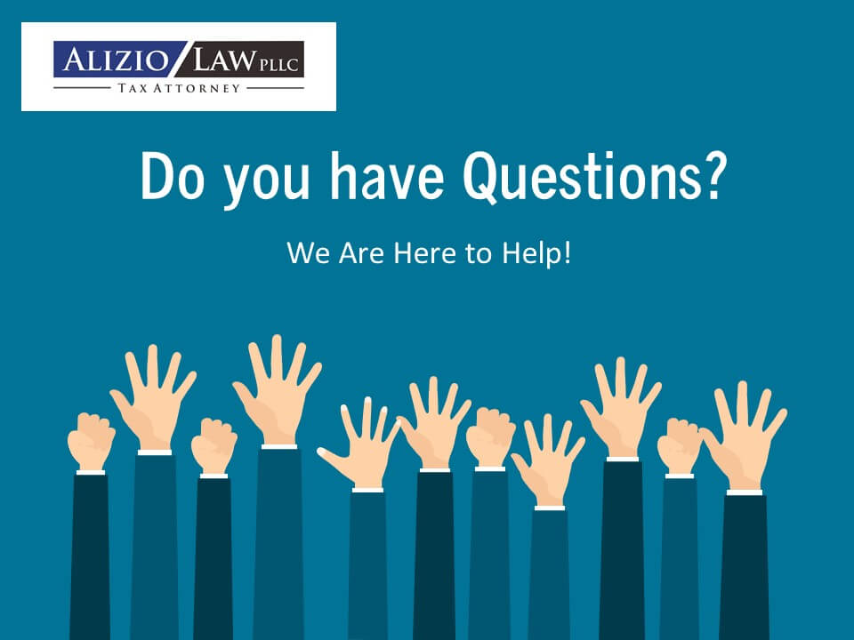 we will answer your tax questions