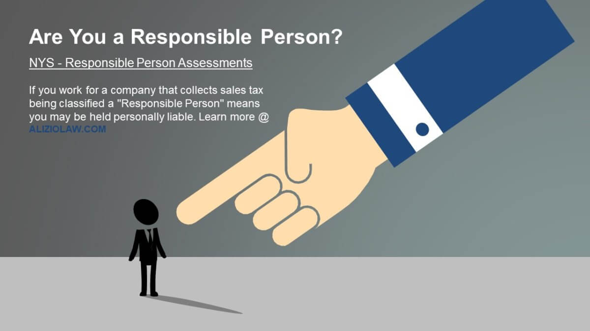 Are you personally liable for sales taxes collected by your company?