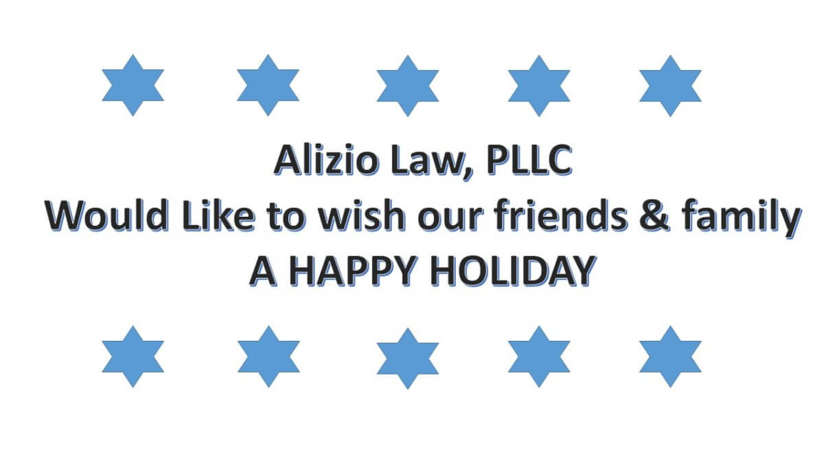 Alizio Law PLLC Tax Attorney Holiday Wishes