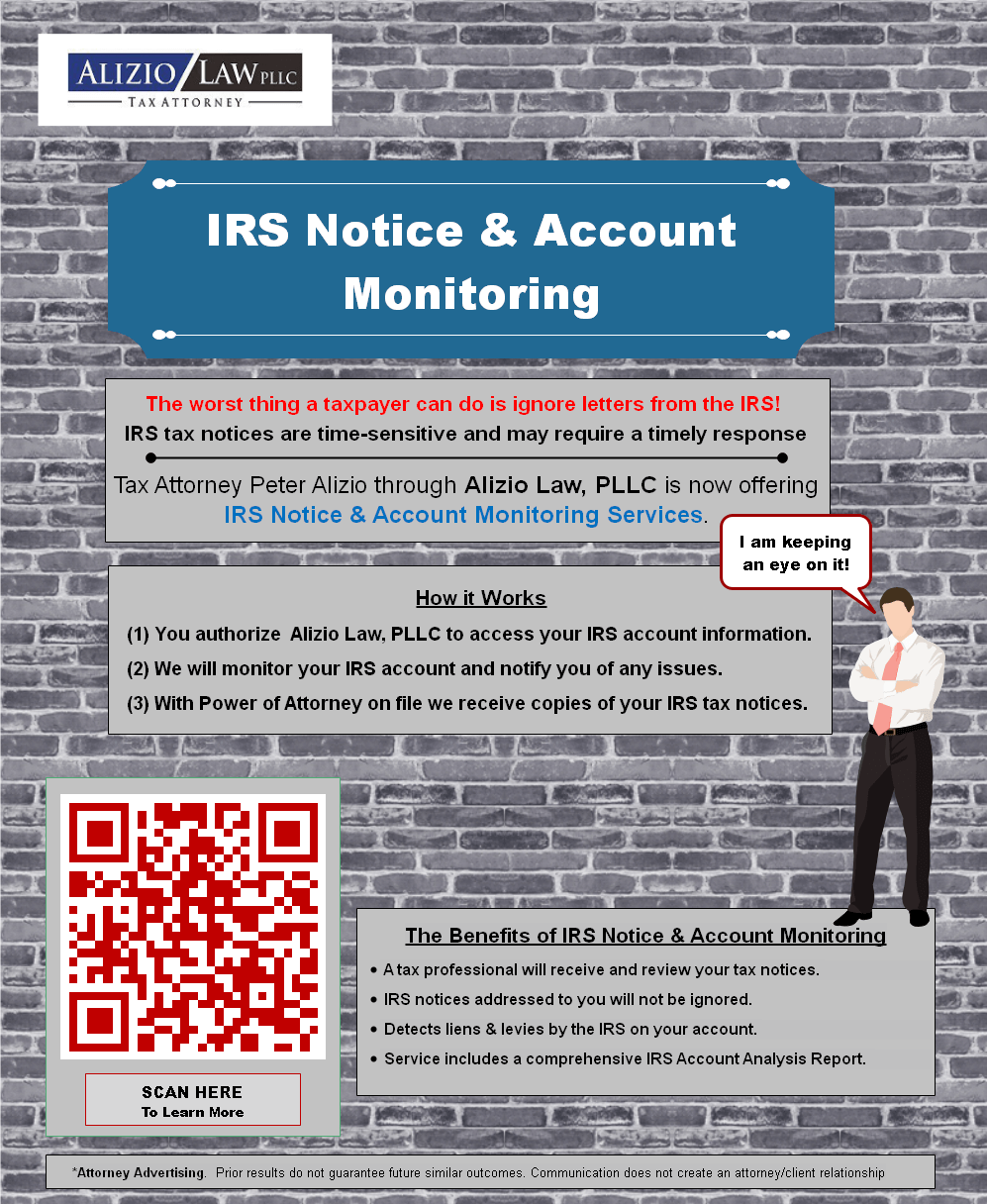 IRS Tax Notice Monitoring Monitoring