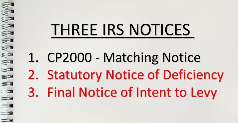 3 IRS Notices